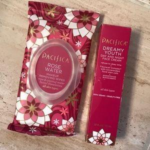 BRAND NEW Pacifica Face Cream & Remover Wipes
